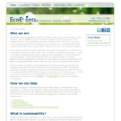 EcoEvents.com website view 1