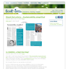EcoEvents.com website view 2
